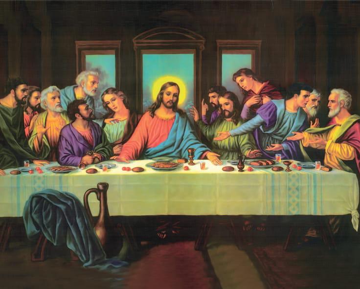 Plakat religijny Ostatnia wieczerza   Artykuły religijne i dewocjonalia